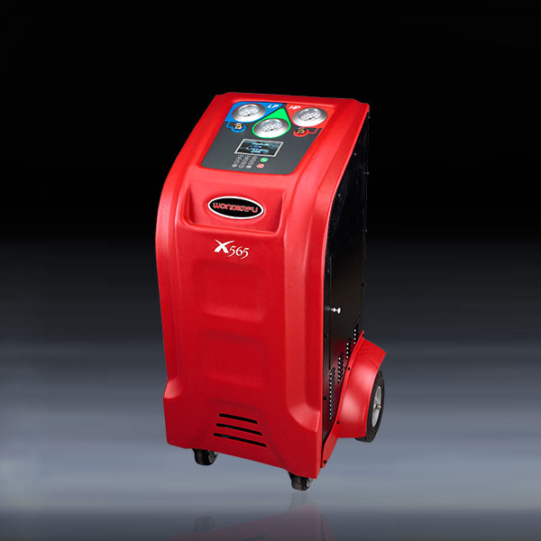 Full automatic red color AC recovery and flushing machine with big transparent window