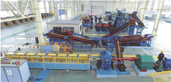 Ball skew rolling mill production line
