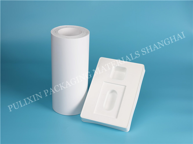 White Permanent Antistatic PP & HIPS plastic film for vacuum forming for electronic components packaging