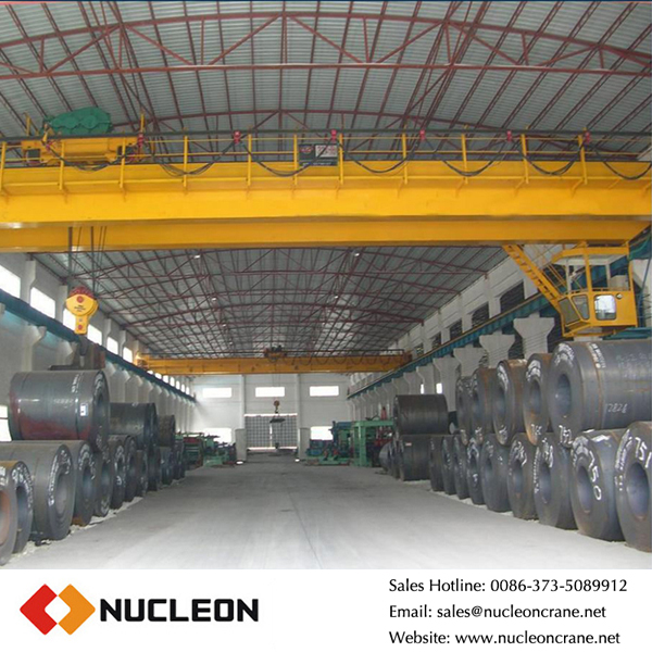 32 ton double girder overhead crane used to workshop