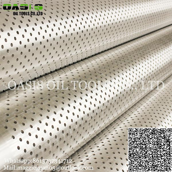Hole diameter 3/8'' China manufacturer of API J55 Perforated Pipes for water filter