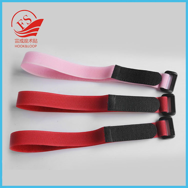Gold supplier bunding hook and loop strap with buckle