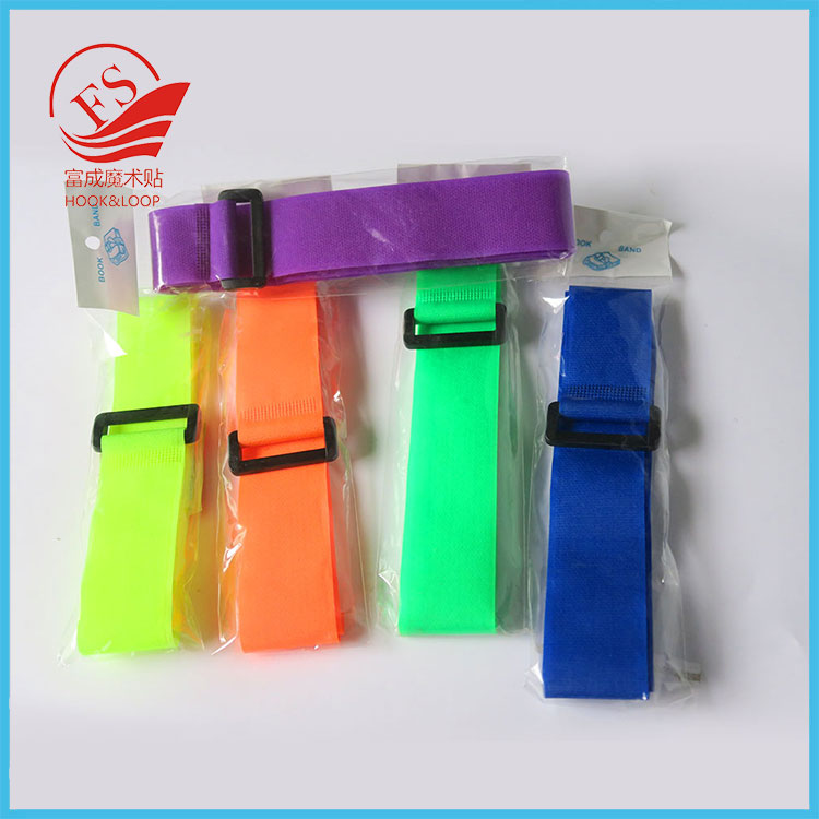 new products nylon magic tape cable clamp with metal buckle