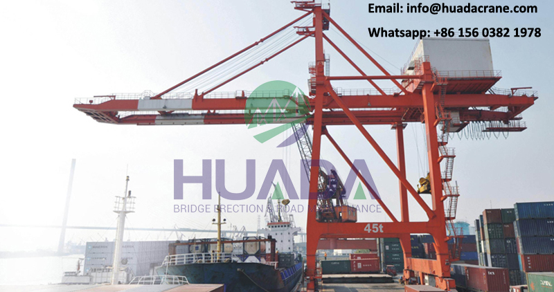50t quay crane double girder container gantry crane for sale