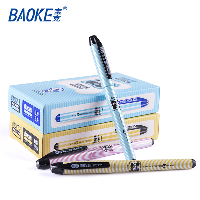 0.5mm Refill with Diamond Top Pen Set / Plastic Color Erasable Gel Pen