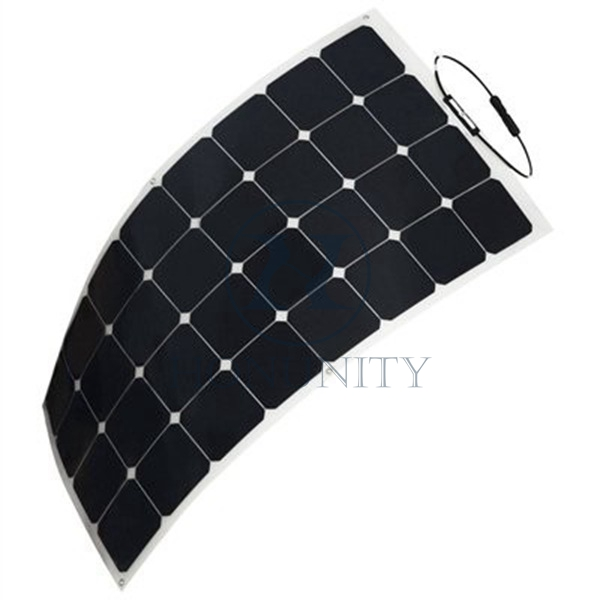 Honunity Technology Durable Portable Solar Semi-Flexible Solar Panel for Yacht, Boat, Solar Roof
