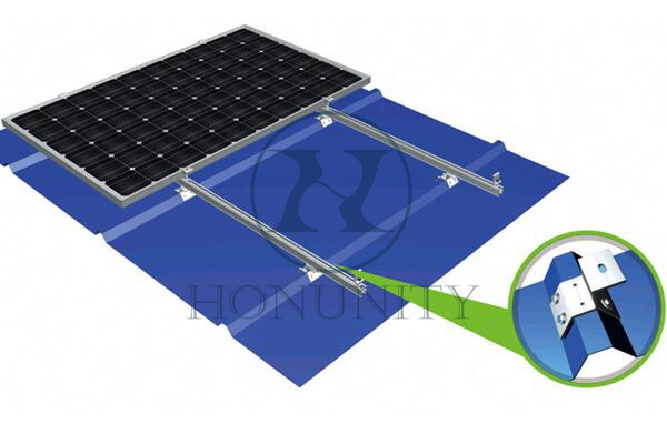 Honunity Technology Aluminum Solar Trapezoidal Hook for Solar Power Installation on Metal Roof
