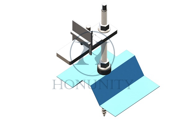 Honunity Technology Solar mounting Hook Hanger Bolt Kit for corrugated metal roof system