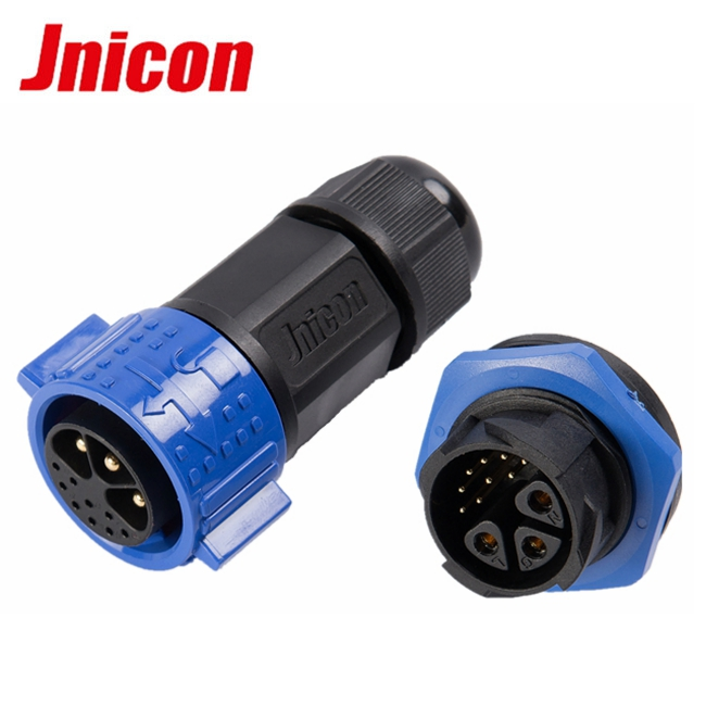 M25 2 wire/4 wire electric plastic waterproof wire to board connector with socket for automation, industry