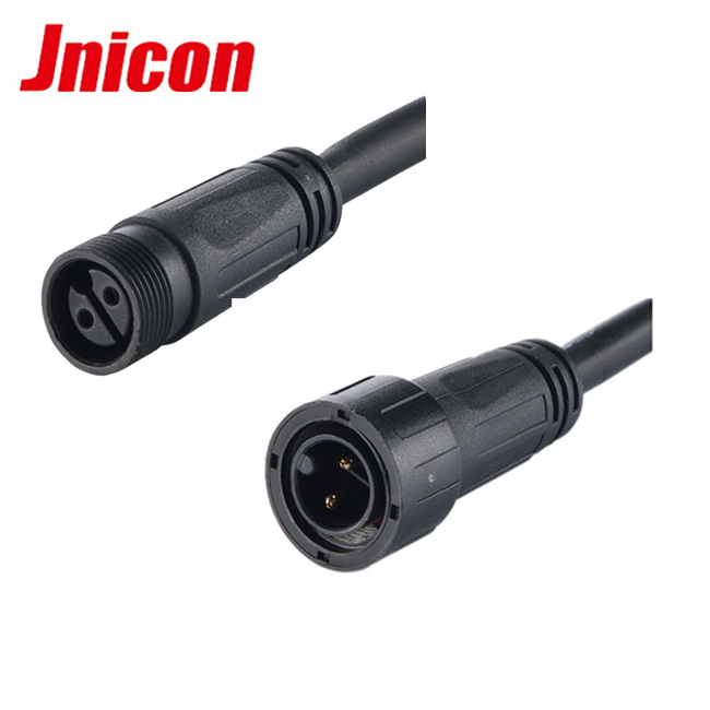 2pin/3pin male to female outdoor LED lighting plug M18 electric power cable waterproof connector