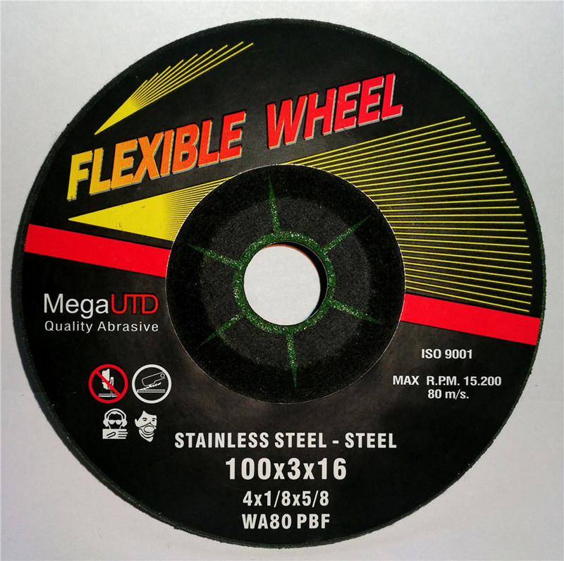 Flexible Grinding Wheel and Disc For mild carbon steel & stainless steel