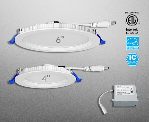 CCT Adjustable LED Flat Round Downlight