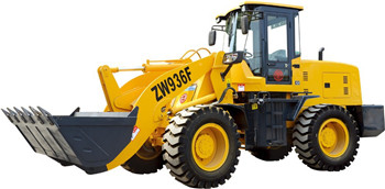 China Weeloader with front end loader attachment factory