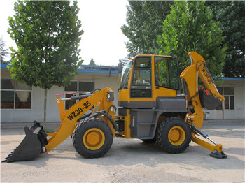 Back hoe wheel loader WZ30-25 with Cummings diesel engine for maintenance in mining