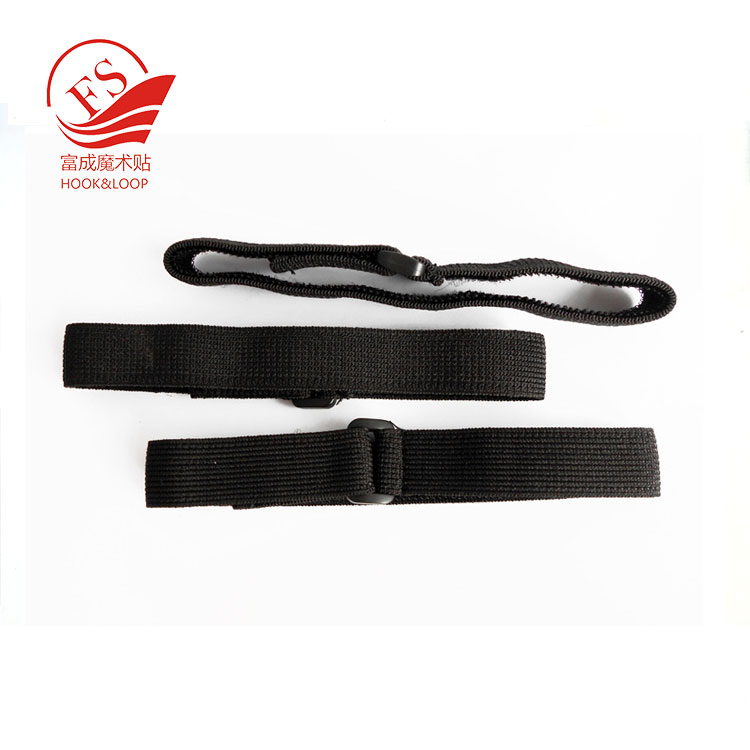 Customized black elastic band with buckle for packing bindling