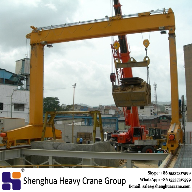 Customized L type lifting gantry crane 25 ton