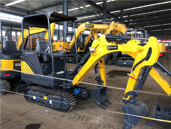 CATHEFENG 08-7A  mini hydraulic  small crawler 0.9ton 0.025m³ excavator/mini digger/small digging machine