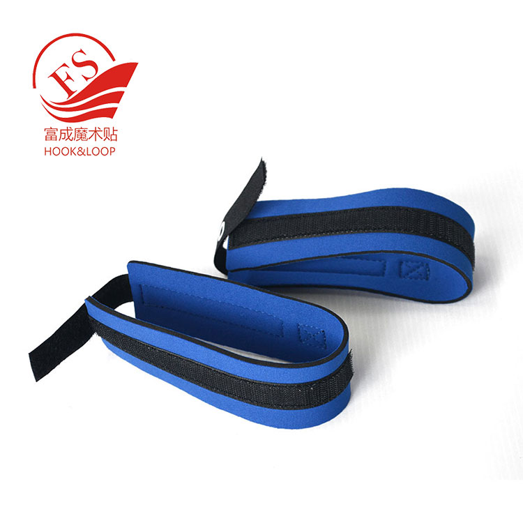 Factory directly sale Gym neoprene hook loop ankle straps for resistance