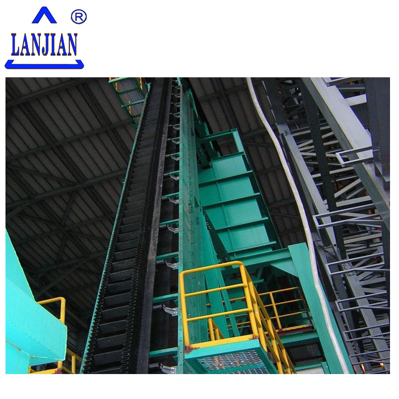 High angle/Large dip angle corrugated sidewall conveyor belt supplier
