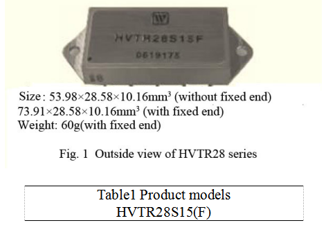 HVTR28 Series High Reliability DC/DC Converters