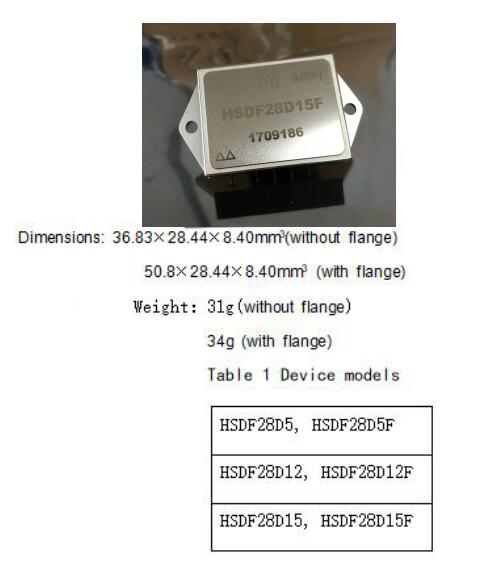 HSDF28D Series Transient Suppression DC/ DC Converters
