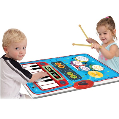 Zippy Mat 2 in 1 Playmat with Piano & Drumset