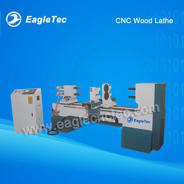 Two Axes CNC Wood Lathe For Making Baseball Bats Banister Balustrade