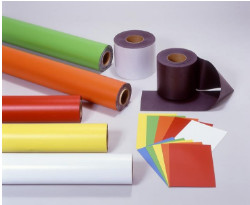 Adhesive flexible magnetic sheets rubber roll paper magnetics