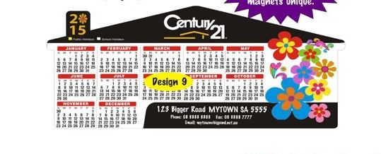 Promotional printed paper calendar fridge magnet sticker