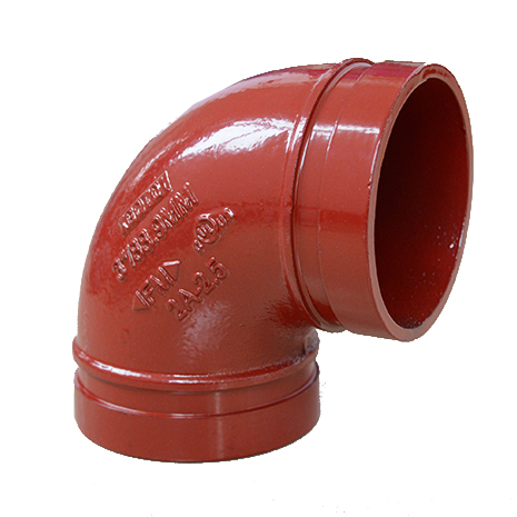 90 Elbow Grooved ductile iron grooved pipe couplings and fittings WPT manufacturer