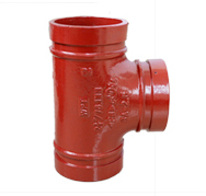 Equal Grooved Tee ductile iron grooved fittings overground for fire fighting