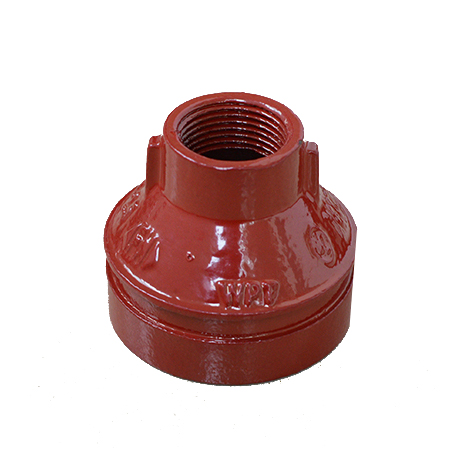 FM UL approved Concentric Reducer Threaded cast iron grooved fittings WPT brand