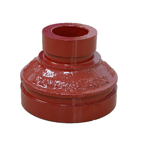 Concentric Reducer both Grooved ends ductile iron grooved fittings for fire fighting system