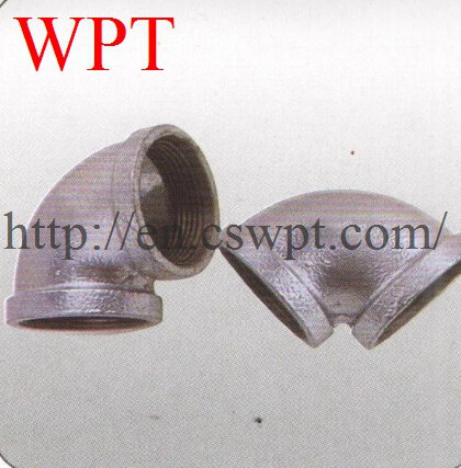 Malleable iron threaded 90 elbow pipe threaded fitting FM/UL approved