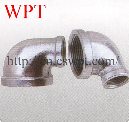 Malleable iron threaded 90 reducing elbow pipe threaded fitting manufacturer