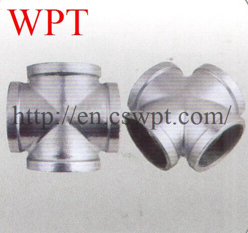 Malleable iron threaded cross ASTM A197 pipe fittings supplier