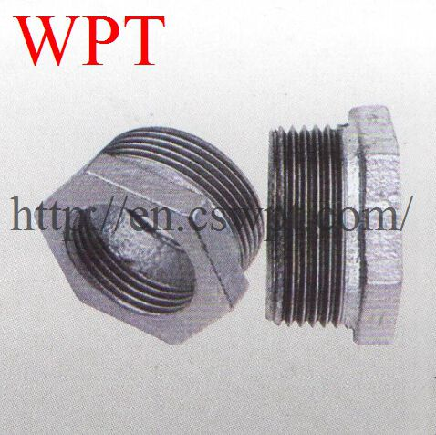 China supplier Malleable iron threaded bushing pipe fitting