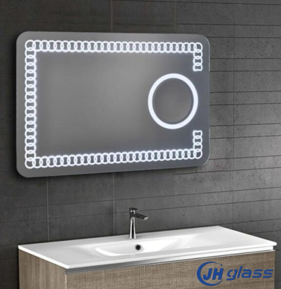 5mm Hotel Bathroom Wall Mounted UL Led Mirror