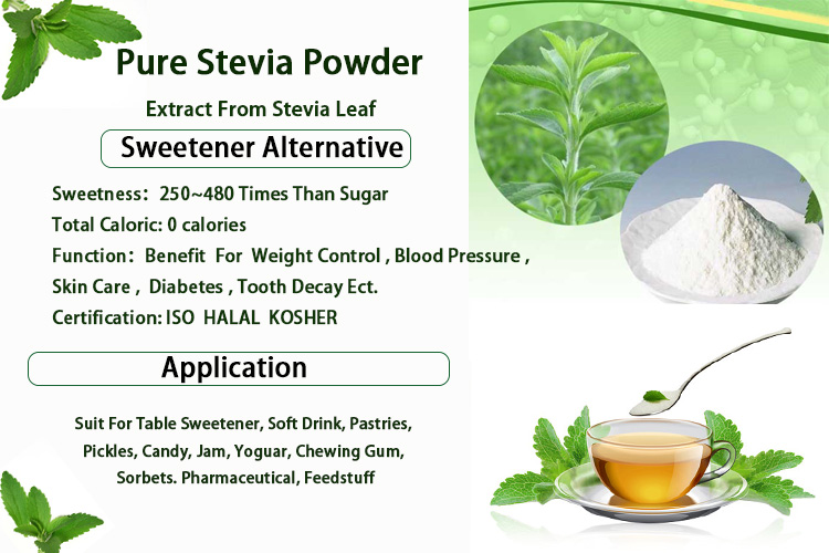 100% natural and pure stevia extract powder from China stevia factory