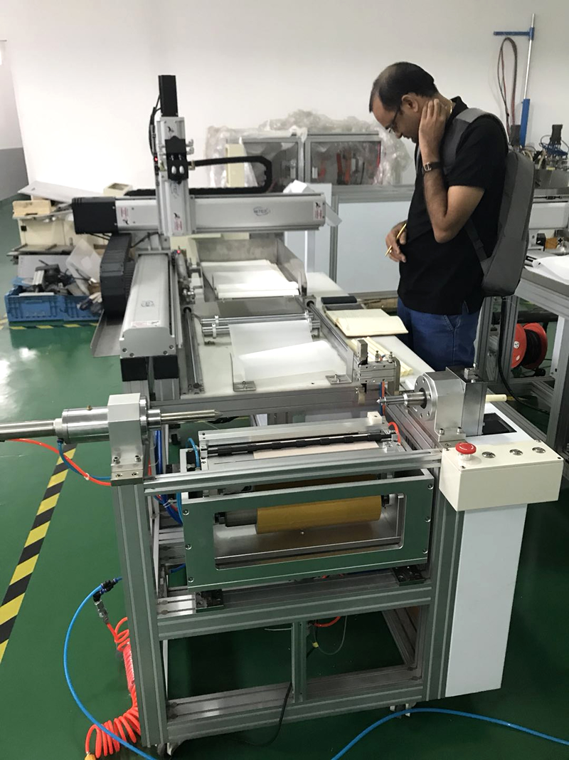 low invest and high reward industry semi automatic water filter cartridge ro membrane rolling/making machine
