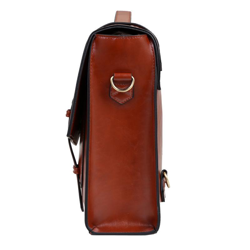5d6fc165413b ... Vintage Ladies Cambridge Backpack Faux Leather Briefcase Shoulder  Laptop Messenger Satchel Bag ...