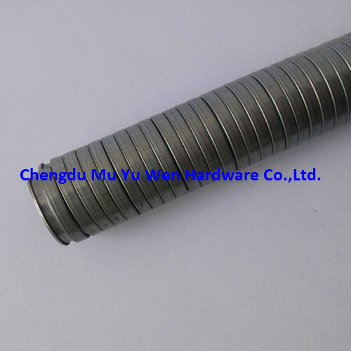 Interlocked galvanized steel flexible conduit for cable protection