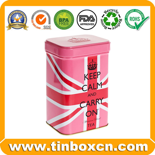 Food Grade Rectangular Metal Can Tin Container for Cookie Biscuit