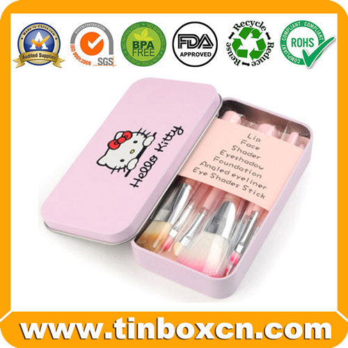Hello Kitty Metal Tin Case for Makeup Brush Set