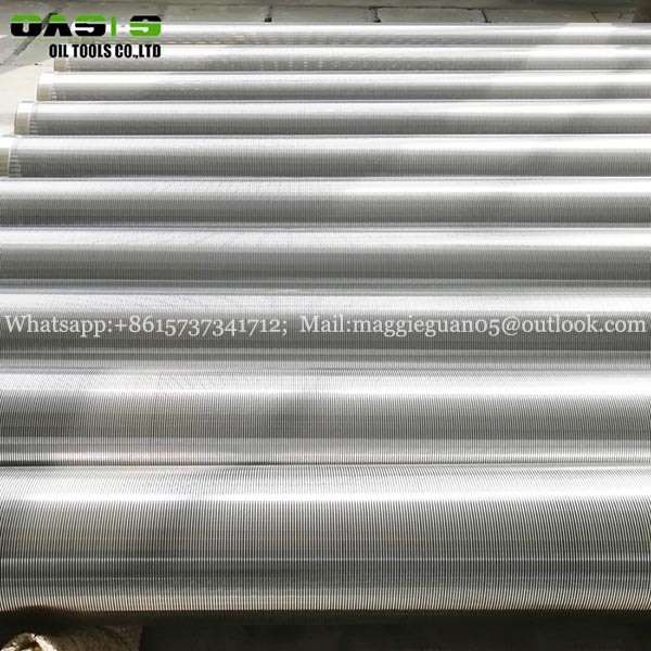SUS 304 316L wire wrapped well screen for deep water well