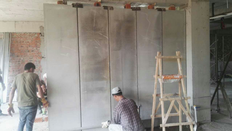 Prefabricated light weight cement partition/wall board/panel/sandwich for prefabricated/premoulded affordable building/house