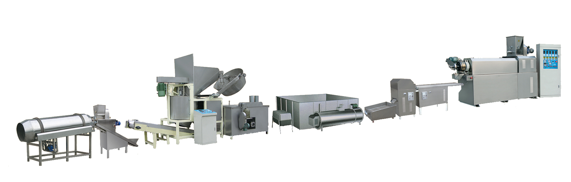 Extruded and Fried Snack Processing Line