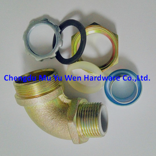 90d elbow malleable iron fittings with zinc plated for flexible steel conduit in China