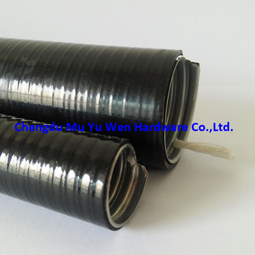 Water proof PVC coated GI flexible conduit with yarn inside for cable protection