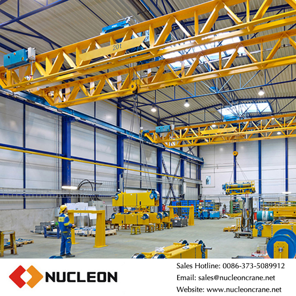 Customized factory used double beam 20 ton overhead crane